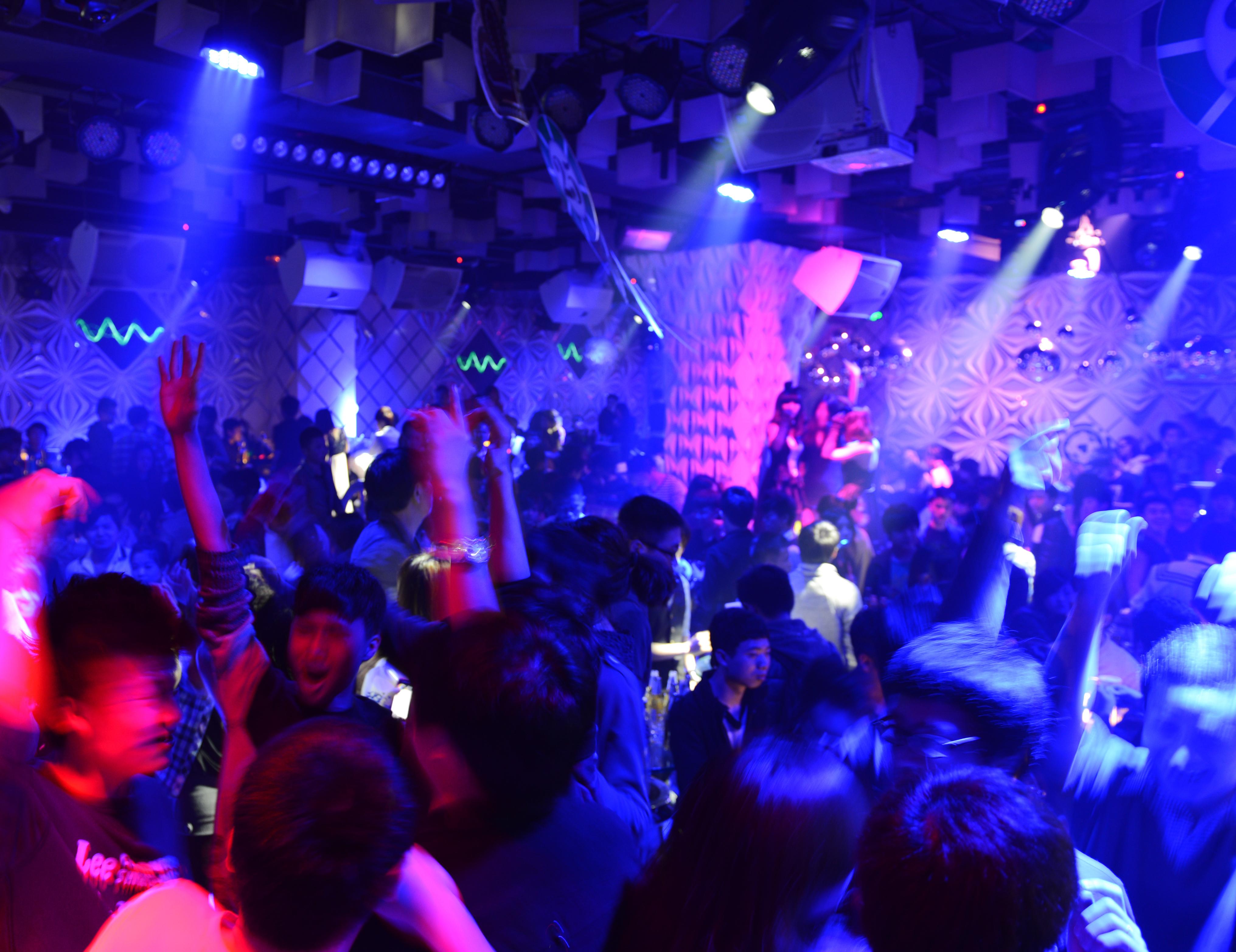 Dansgolv på nattklubb