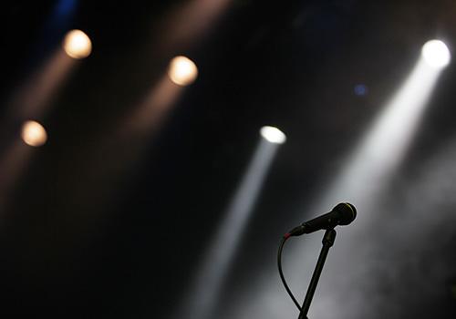 Mikrofon på scen