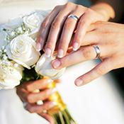 Händer på bröllop