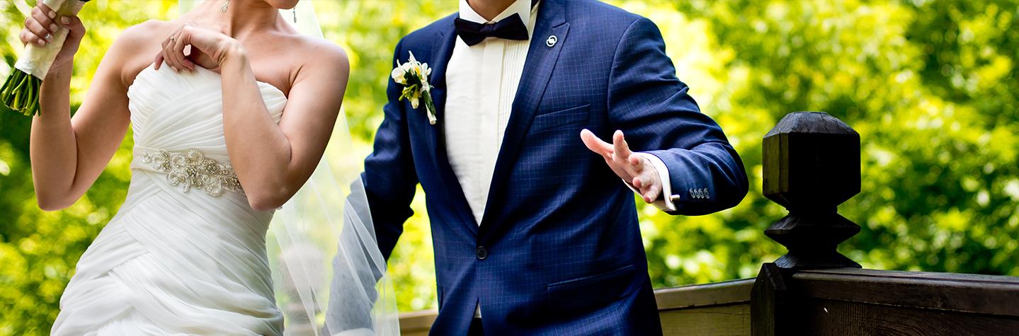 Springade bröllopspar